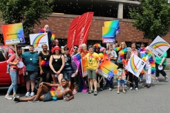 Our HIV/STD always has a strong presence at the Pride parade and in the community, with health promotion campaigns and testing services.