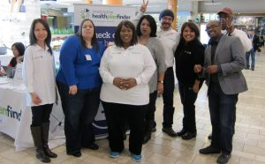 Public Health's enrollment team at Southcenter Mall