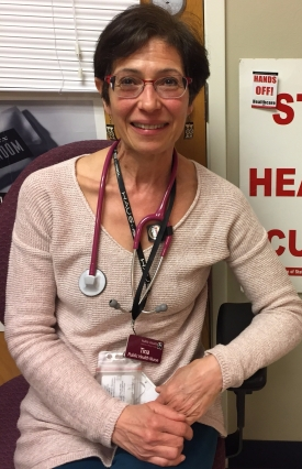 Tina Maestas, Public Health Nurse, as photographed by one of her clients at the Renton CSO.