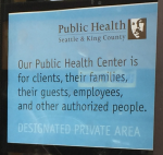 Private Area sign