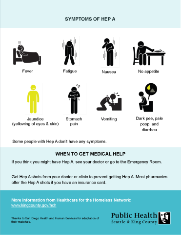 FINAL Hepatitis A fact sheet People Living Homeless 2
