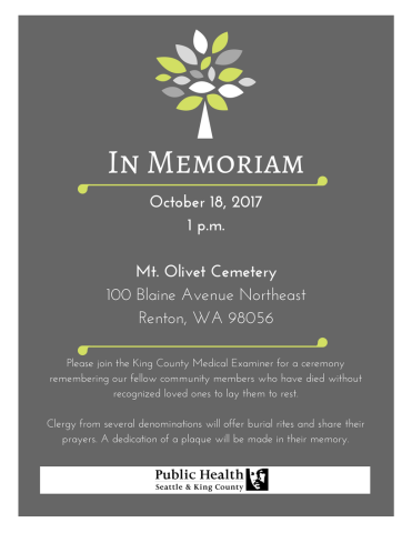 King County Indigent Remains Burial 1