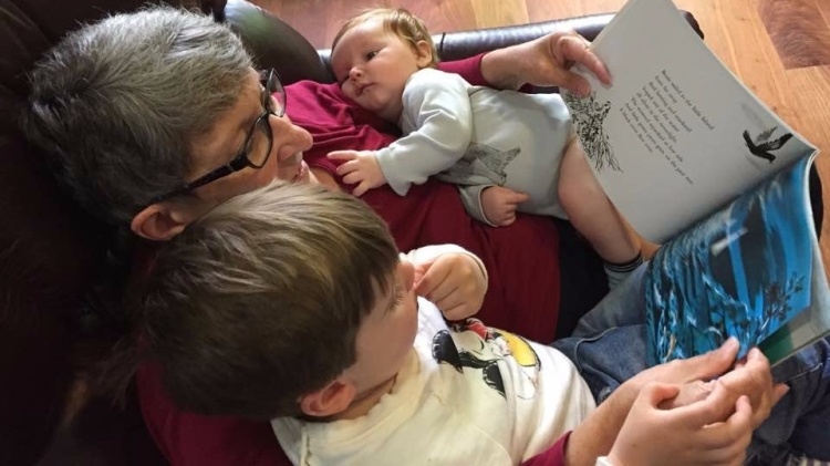 grandma and babies