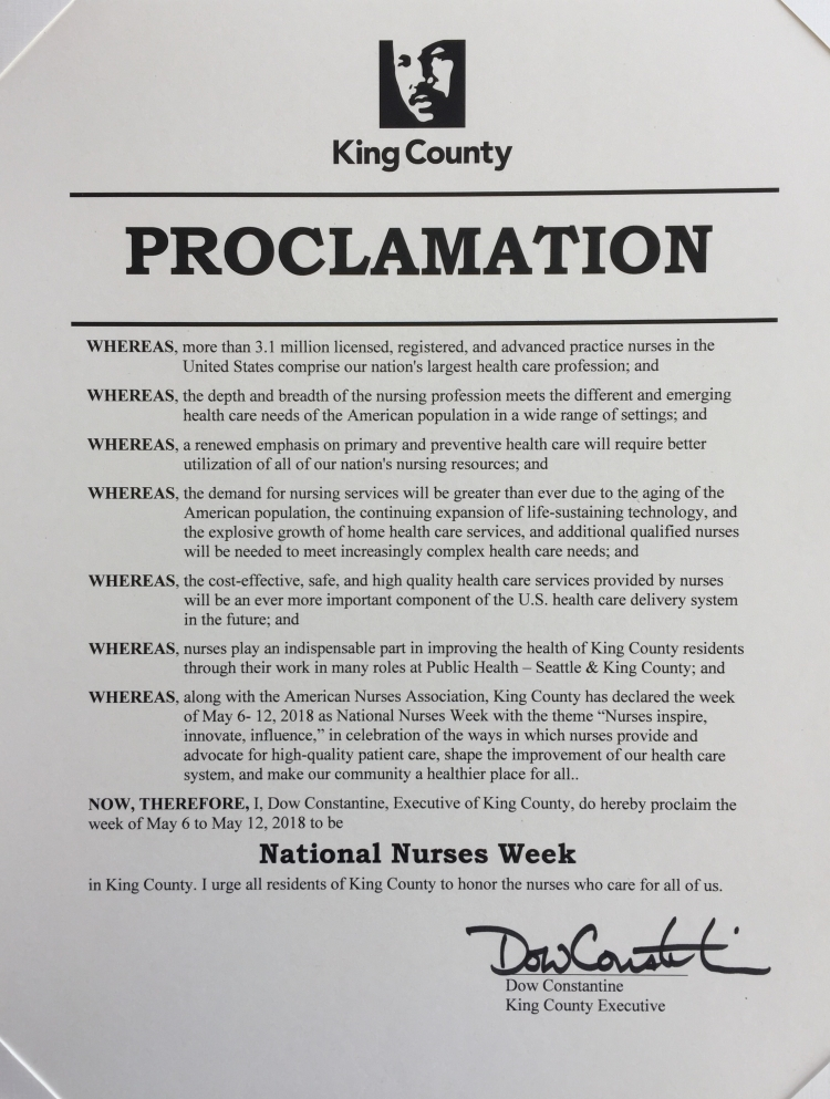 Nurses Week proclamation